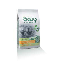 Oasy Dog Adult All Breed Maiale Kg. 12 Secco One Animal Protein