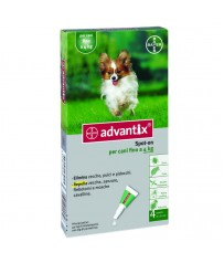 Advantix Spot-on per Cani fino a 4 Kg 4 Pipette scadenza 08/2019