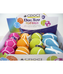 GIOCO PER CANI LATTICE FLUO BALLS ASSORTITI CROCI C60098191