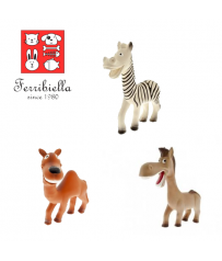 Gioco per cani Animali Safari Zebra Lattice cm. 18 Ferribiella