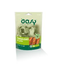 Snack per cani Oasy Salsicciotti di pollo busta da 100 grammi